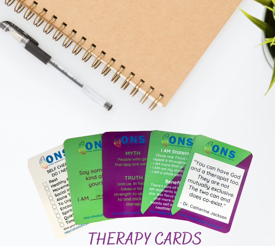 This therapy card deck is the Sampler Edition of 6 subsequent card decks to aid in your therapy journey, make talking about mental health a part of every day experiences and therefore help to reduce stigma.